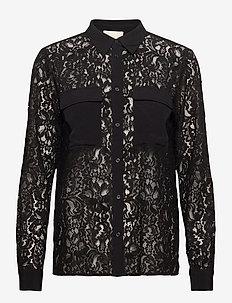 Celle shirt - langærmede skjorter - sort