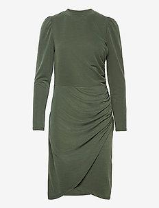Kastanje dress - midiklänningar - army green