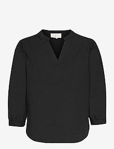Kira blouse - langærmede bluser - sort