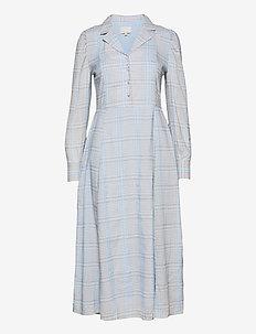 Cornelia dress - zomerjurken - powder blue checked