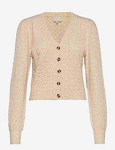 Diana knit cardigan - swetry rozpinane - nomad sand melange