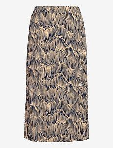 Zendy skirt - midi nederdele - straw print