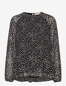 Maj blouse - langærmede bluser - powder blue dots