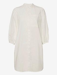 Milta shirt dress - skjortekjoler - cloud dancer
