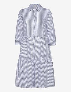 Dalina dress - robes de jour - black iris striped