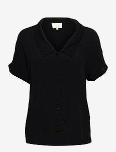 Elissa shirt - lyhythihaiset paidat - sort
