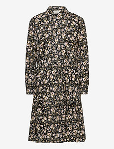 Liv dress - blousejurken - old rose flower print
