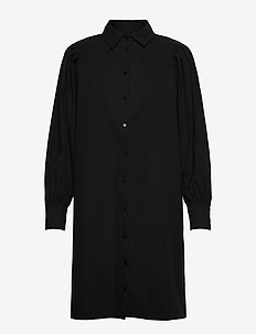 Rinoa shirt dress - blousejurken - sort