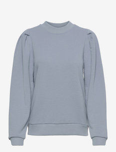 Mika long sleeve sweat - sweatshirts & hoodies - dusty blue
