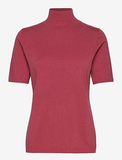 Lima roll neck knit - t-shirt & tops - pink lemonade
