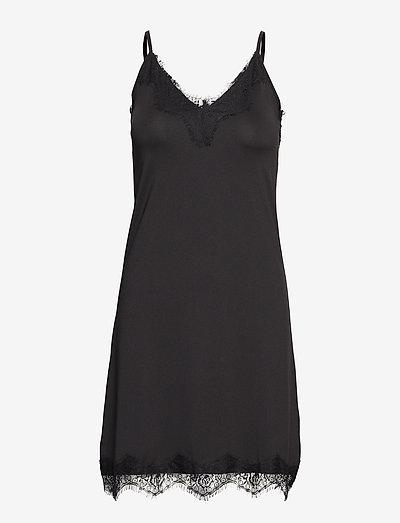 Asa slipover dress - bodies & slips - black