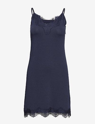 Asa slipover dress - bodies & slips - black iris