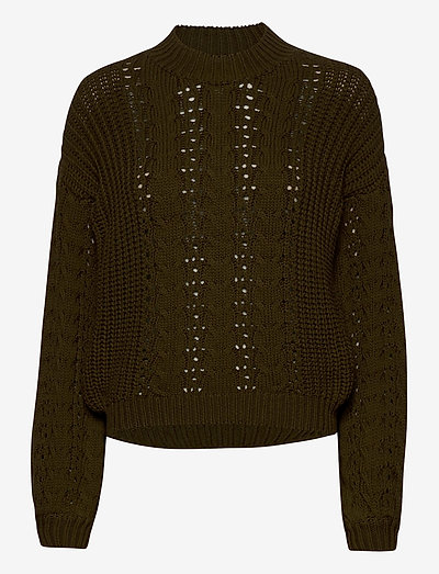 Loviana knit pullover - sweaters - olive