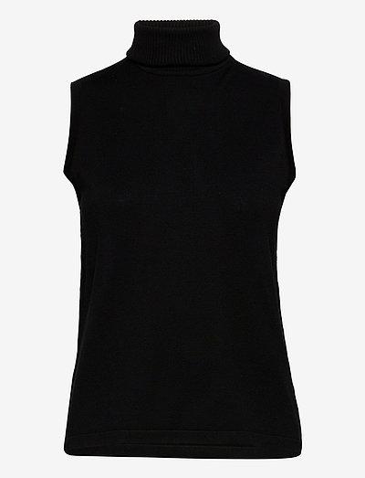 Raka knit turtleneck - knitted vests - sort