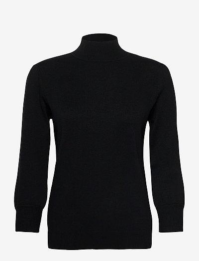 Mersin roll neck knit - turtlenecks - sort