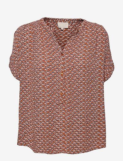 Delaila top - blouses à manches courtes - hazel sea shell print