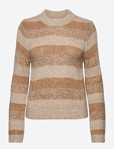 Silvia knit pullover - sweaters - nomad sand striped