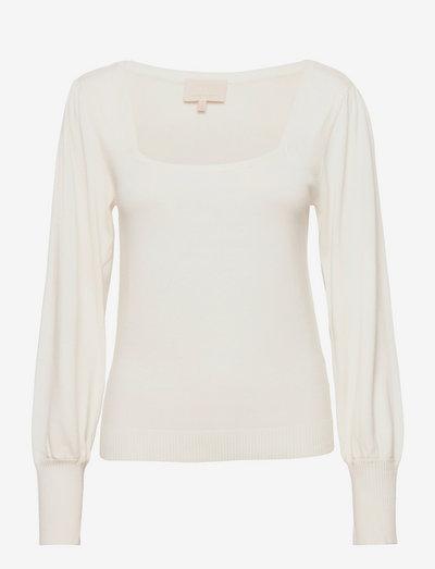 Isra knit pullover - sweaters - broken white