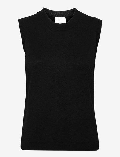 Augusta vest - knitted vests - sort