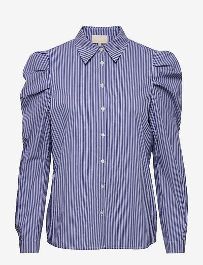 Elayna striped long sleeve - long sleeved blouses - blue zen stripes