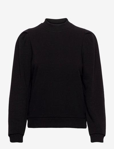 Mika long sleeve sweat - sweatshirts & hoodies - sort
