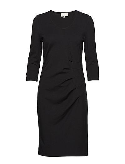Hoffa 3/4 sleeve dress - BLACK