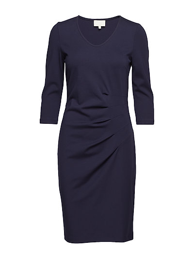 Hoffa 3/4 sleeve dress - BLACK IRIS