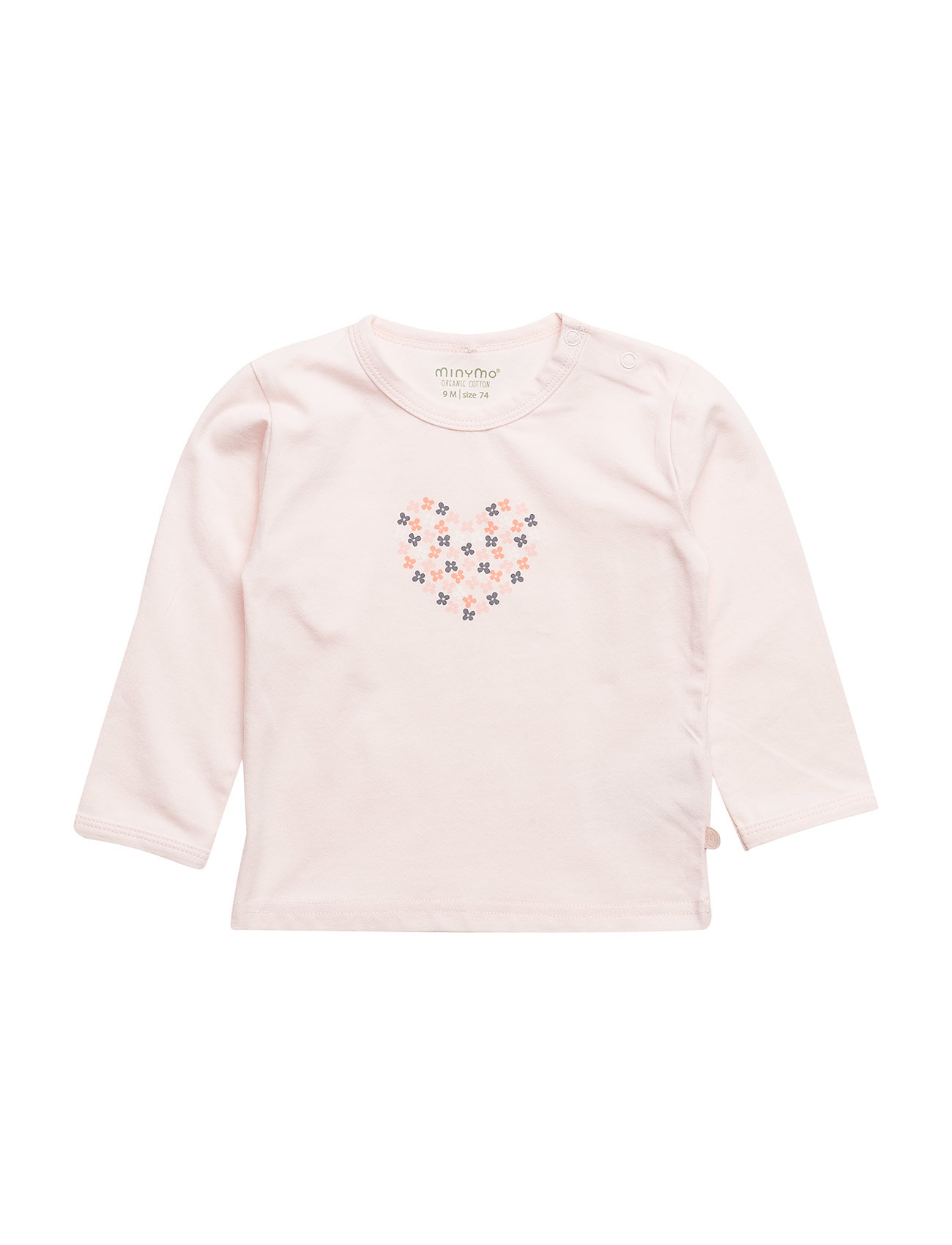 Minymo T-shirt LS w. print - PEACH BLUSH
