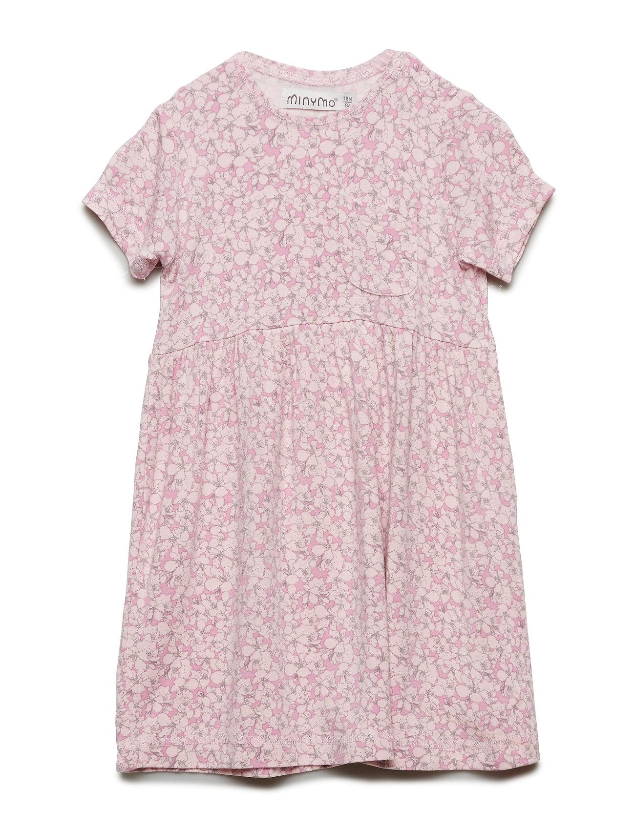 Minymo Dress SS w. AOP - PALE LILAC
