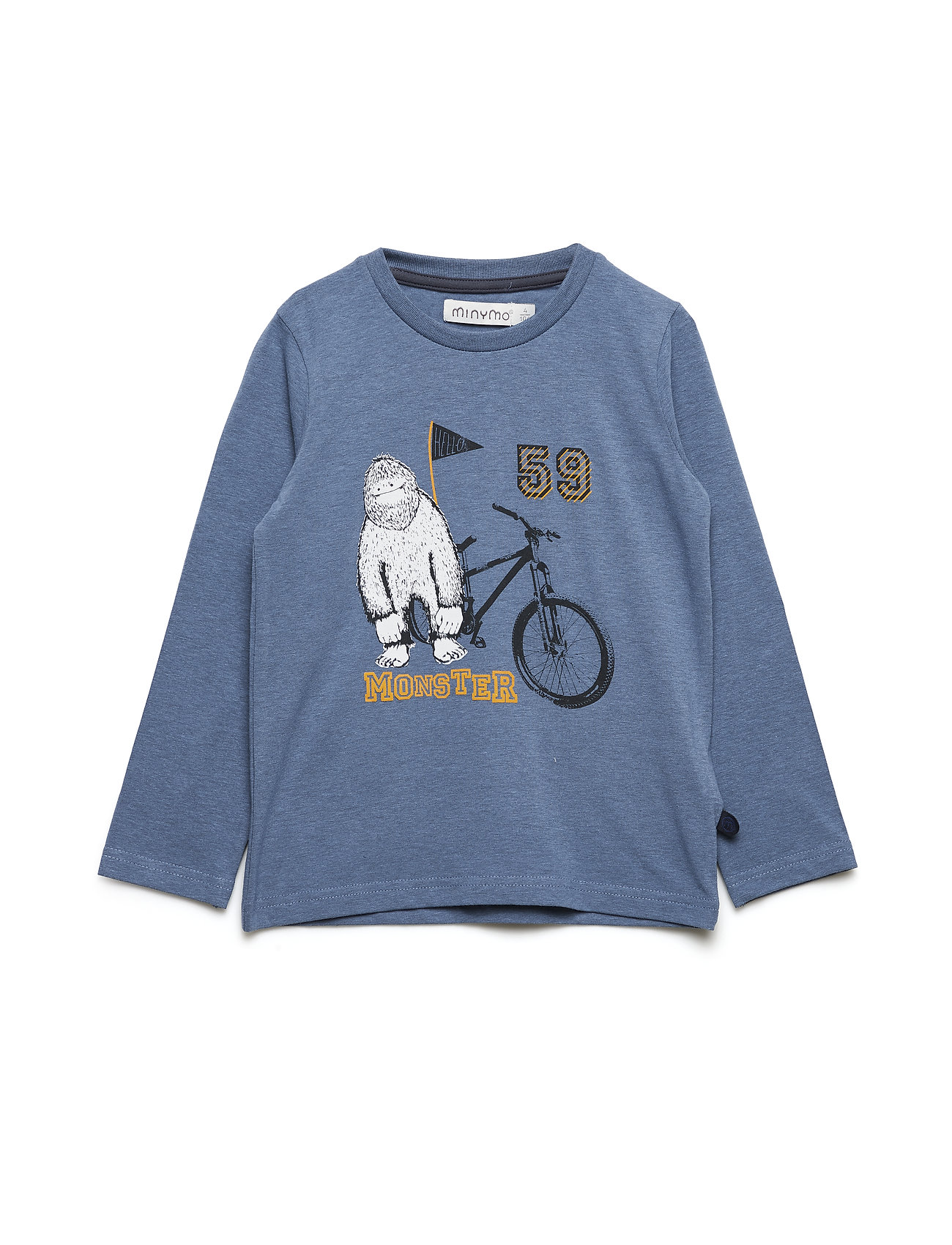 T-Shirt Ls W. Print Monster - Minymo