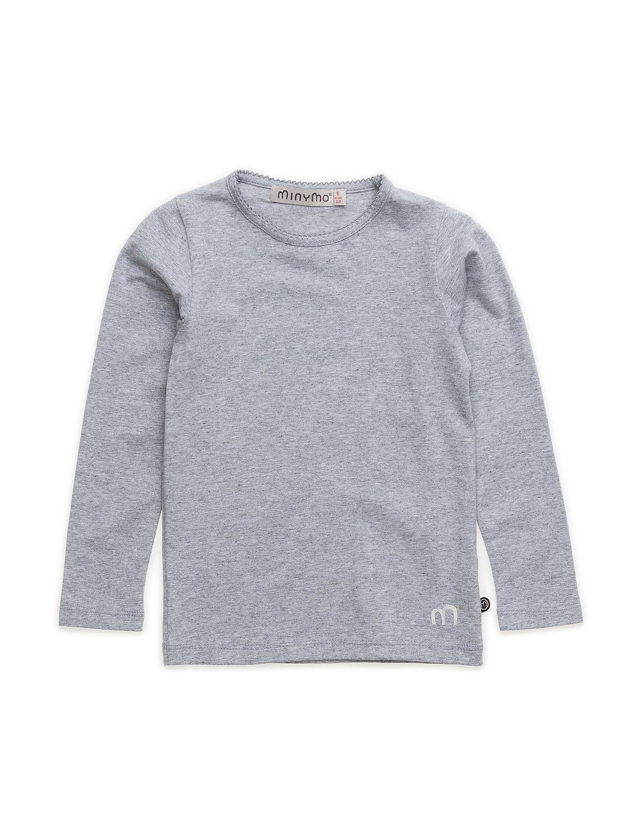 Minymo Basic T-shirt LS -solid - LIGHT GREY MELANGE