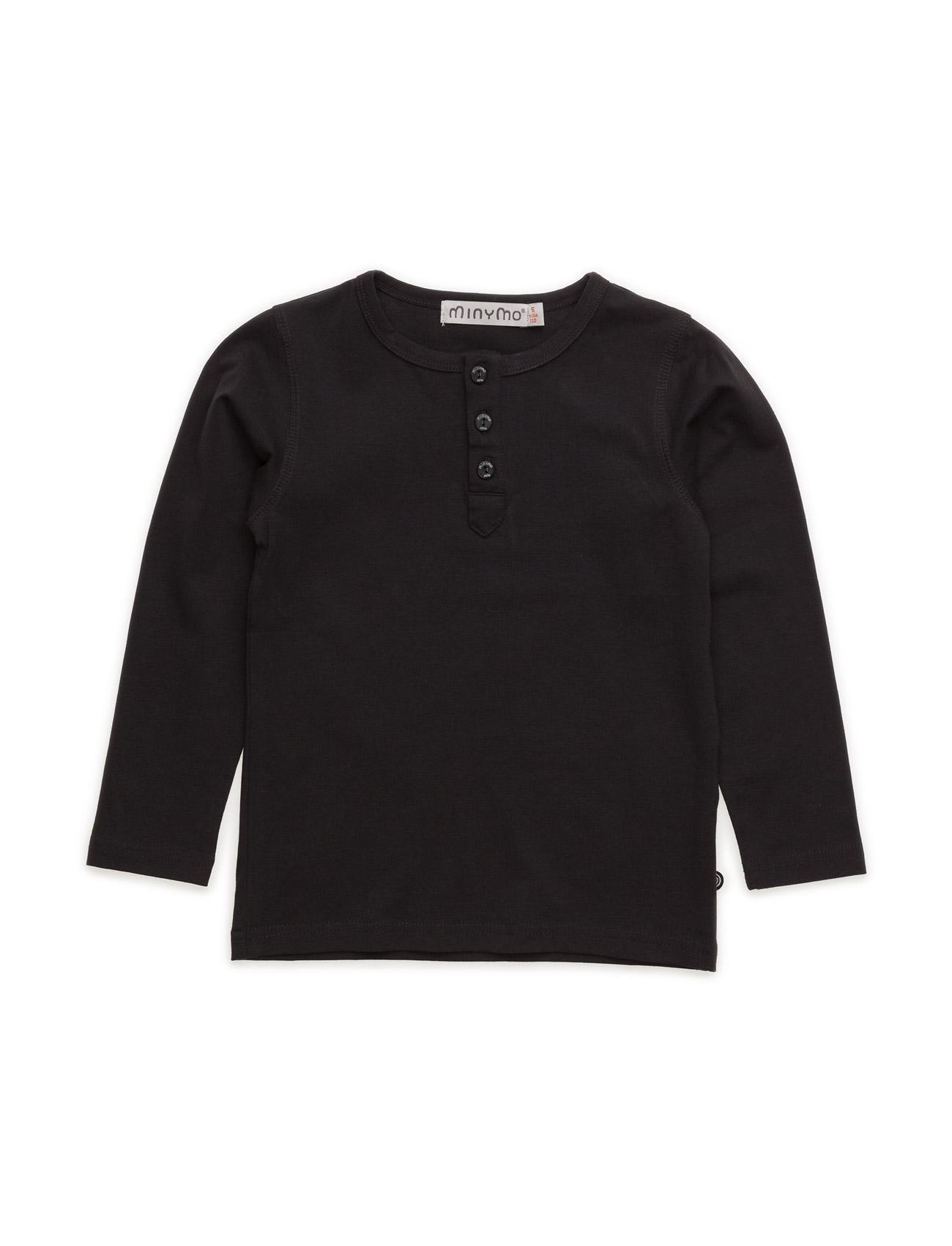 Basic Grandad T-Shirt Ls -Solid - Minymo