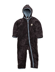 37 - Pramsuit teddy fleece - ASHLEY BLUE