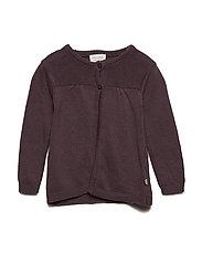 Knit cardigan - BLACK PLUM