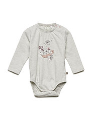 Body LS w. print - GREY MELANGE