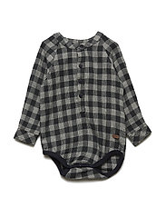 Bodyshirt  LS w/check - URBAN CHIC