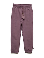 Pants sweat w. lurex - BLACK PLUM