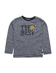 40 -T-shirt LS w.the best - DARK NAVY