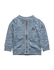 Cardigan w. zipper - ENSIGN BLUE