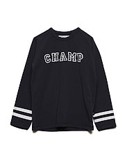 T-Shirt LS w. print Champ - BLUE NIGHTS