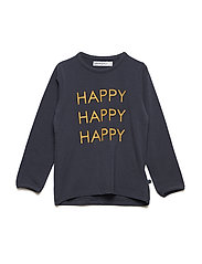 T-Shirt LS w. print Happy - BLUE NIGHTS