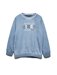 Sweat shirt w. print - CORONET BLUE