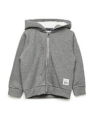 Sweat cardigan w. hood - URBAN CHIC