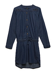 Dress LS chambray - BLUE DENIM