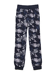 Pants w. Flower AOP - BLUE NIGHTS