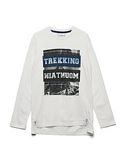 T-shirt LS w. photoprint - WHITE