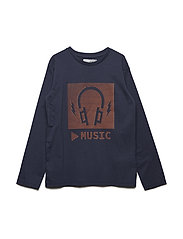 T-shirt LS w. headphones - INDIGO BLUE