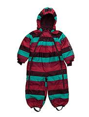 Gam 12 -Snowsuit -striped - GRAPE WINE