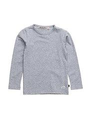 Basic T-shirt LS -solid - LIGHT GREY MELANGE
