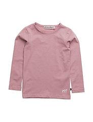 Basic T-shirt LS -solid - ROSE